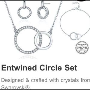 Entwined Circle Set with Swarovski Crystals